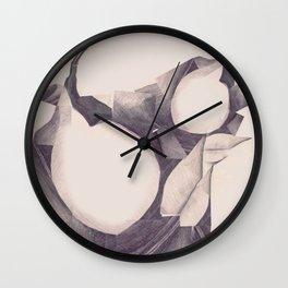Leafs Collage - Peaches Wall Clock