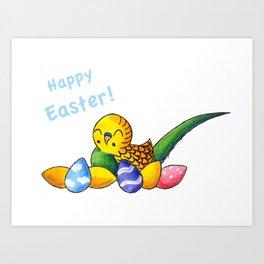 Easter Egg Keet Art Print