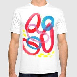New Year Watercolor Abstract T-shirt