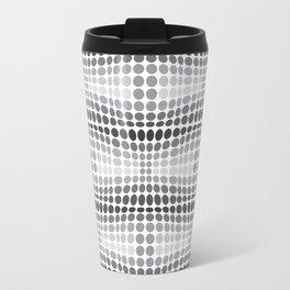 Dottywave - Grey scale wave dots pattern Travel Mug