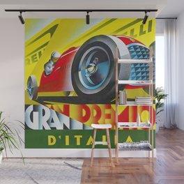 1949 Italian Grand Prix Ascari Motor Racing Vintage Poster Wall Mural