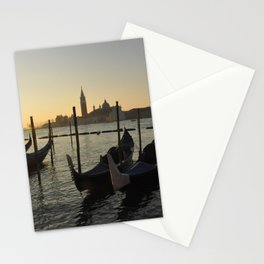 Gondolas waiting for the crowds Stationery Cards