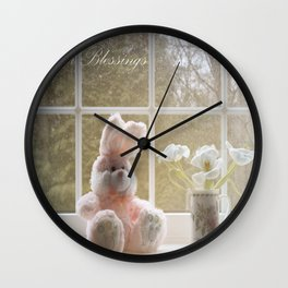 Easter Blessings Wall Clock