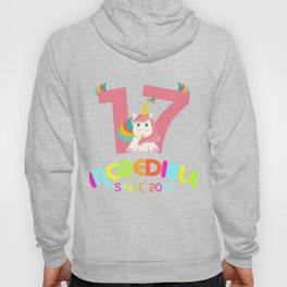 17th Birthday Celebration Gift Incredible Since 2002 Party Birth Anniversary Hoody