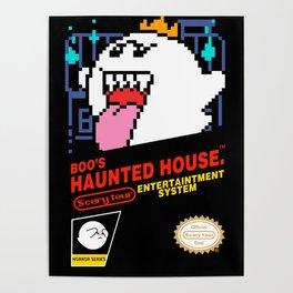 Super Mario Boo NES box art Poster