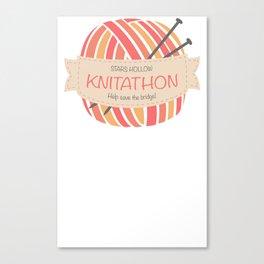 Knitathon Canvas Print