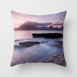 Elgol Beach IV Throw Pillow