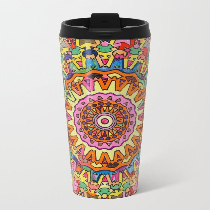 Third Eye Mandala Metal Travel Mug
