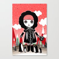 Eskimo Girl, I love you. Canvas Print