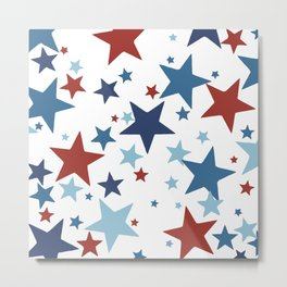 Stars - Red, White and Blue Metal Print