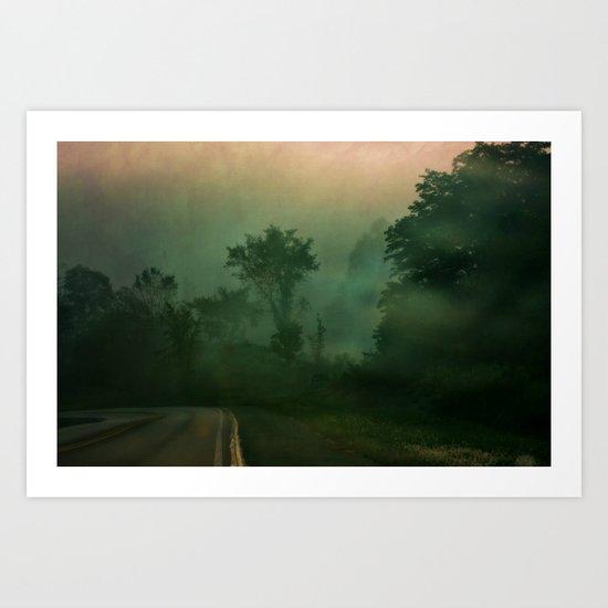 Jump in to the Fog Art Print