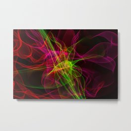 Abstract smoke of colors. Pattern of soft waveforms. Metal Print