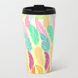 Lovely Feathers Metal Travel Mug