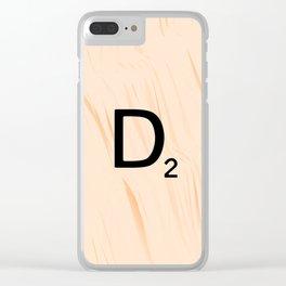 Scrabble Letter D - Large Scrabble Tiles Clear iPhone Case