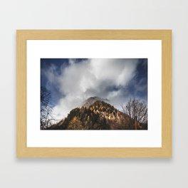 Mountain Illusion. || Slovenian Alps. || Kranjska Gora. || Foggy Forest. || The Top. Framed Art Print