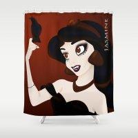jasmine Shower Curtains featuring Dark Jasmine by Old Account please go to /thedarkishside