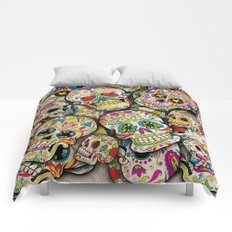 Sugar Skull Collage Comforters