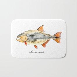Golden Dorado. Illustration of fish. Bath Mat