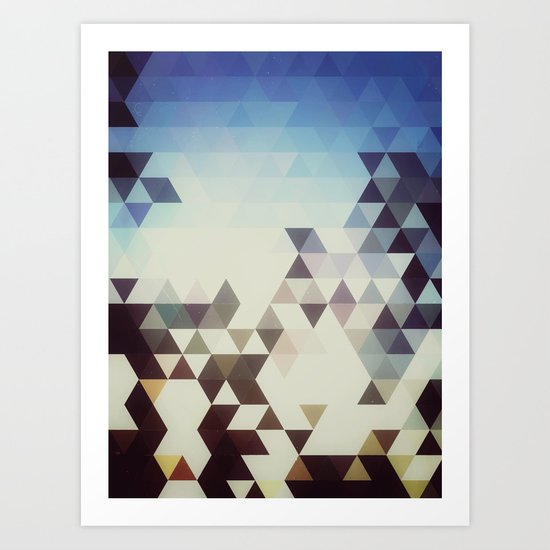 Triangle Space Art Print