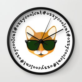 Ozzy the Cool Cat #OzzyCoolCat Wall Clock