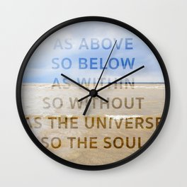 As the Universe, So the Soul Wall Clock