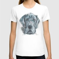 great dane T-shirts featuring Baden // Blue Great Dane by ali_grace_gal