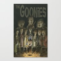 goonies Canvas Prints featuring The Goonies by Patt Kelley
