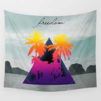 freedom Wall Tapestries featuring freedom by mark ashkenazi