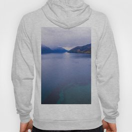 Lake Hawea lake wakatipo blue crystal clear panorama blue Hoody
