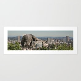 Komodo Attack Art Print