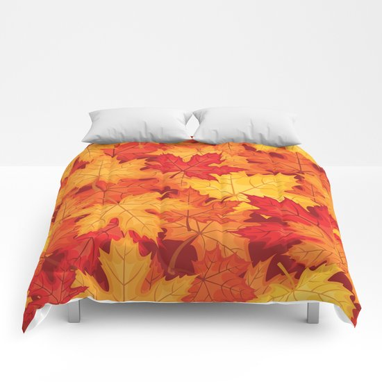 Autumn leaves #10 Comforters
