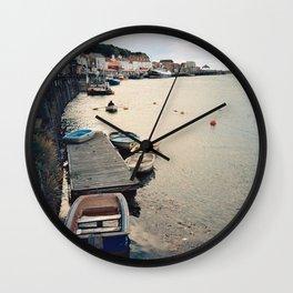 Whitby Row Boats Wall Clock