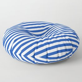 BLUE & WHITE Horizontal Stripes  Floor Pillow