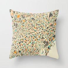 BARCELONA MAP Throw Pillow