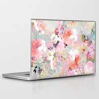 background Laptop & iPad Skins featuring Love of a Flower by Girly Trend