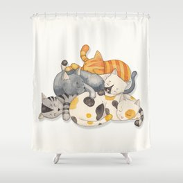 Cat Nap (Siesta Time) Shower Curtain
