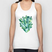 emerald Tank Tops featuring Emerald Watercolor by Cat Coquillette