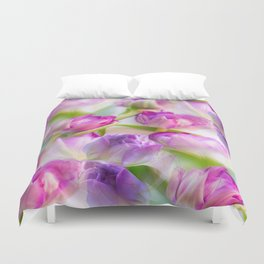 Multicolor Tulip Bouquet Spring Mood #decor #society6 #buyart Duvet Cover