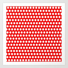 Red Points Art Print