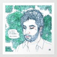 lucas david Art Prints featuring Lucas by Max Elbo