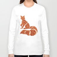 henna Long Sleeve T-shirts featuring Henna fox by Dezi