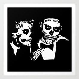 LG & Zombie boy Art Print