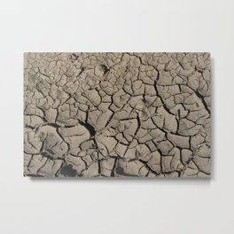 Cracked earth Metal Print