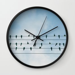Up On A Wire Wall Clock
