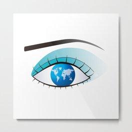 Eye to watch the world Metal Print