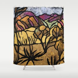 """""""A Mile Out of Alice Spings"""" Margaret Preston Shower Curtain"""