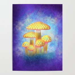 Yellow Bioluminescence Poster