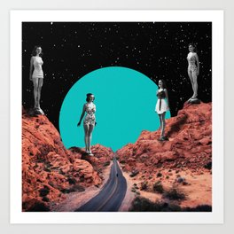 Canyon Swimsuits Art Print
