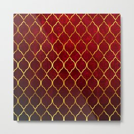 Moroccan Tile islamic pattern #society6 #decor #buyart #artprint Metal Print