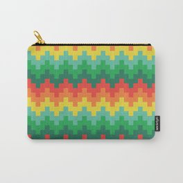 Pixelated zigzag Carry-All Pouch